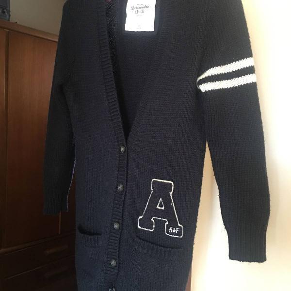 Casaco preto abercrombie pp