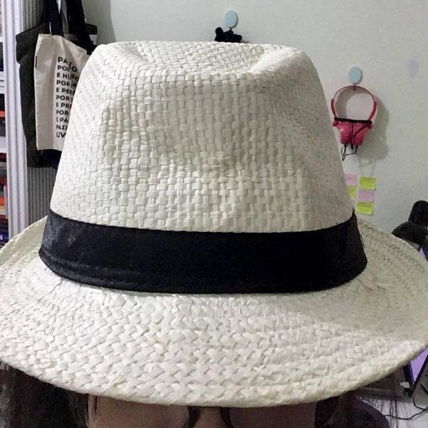 Chapéu moda panamá palha