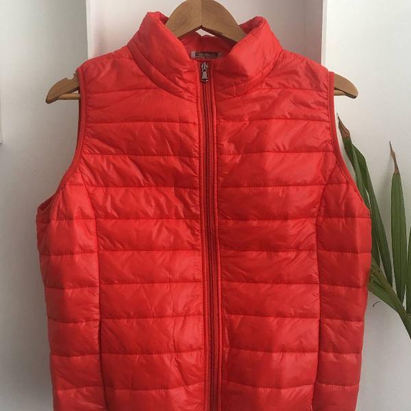 Colete vermelho nylon