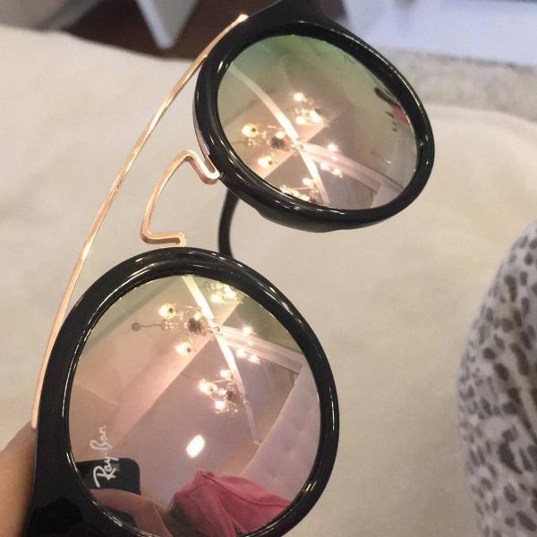 Culos rayban espelhado rosa