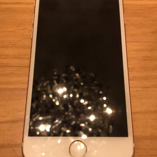 Iphone 7 128gb em otimo estado cor rosa com capa especial de