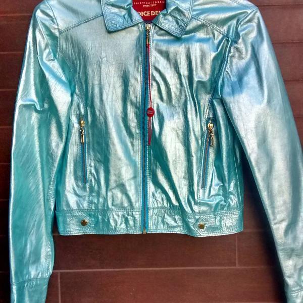Jaqueta iódice couro legítimo