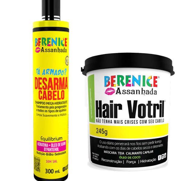 Kit shampoo desarma cabelo e máscara hair votril berenice
