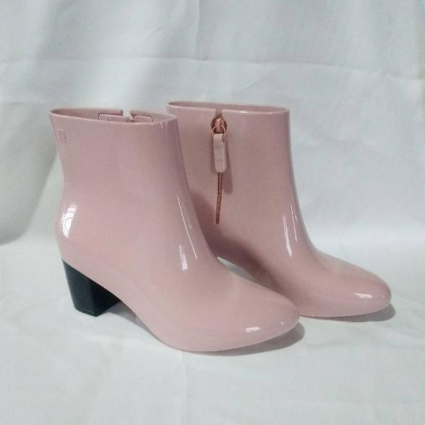 Bota melissa femme boot rosa/preto