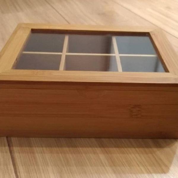 Caixa para chá em bambu