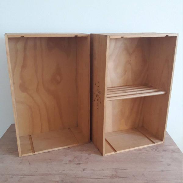 Caixas de madeira para decoração