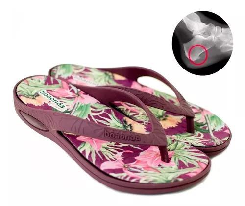 Chinelo boa onda esporão fascite plantar dor nos pés macia