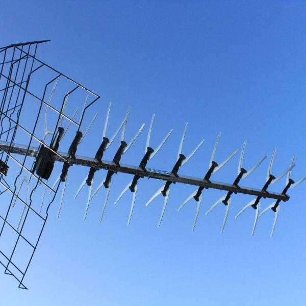 Antena uhf para tv digital e analógica nova 2 lb 44 edsat