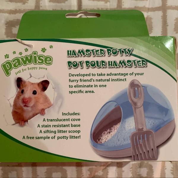 Banheiro para hamster pawise - verde