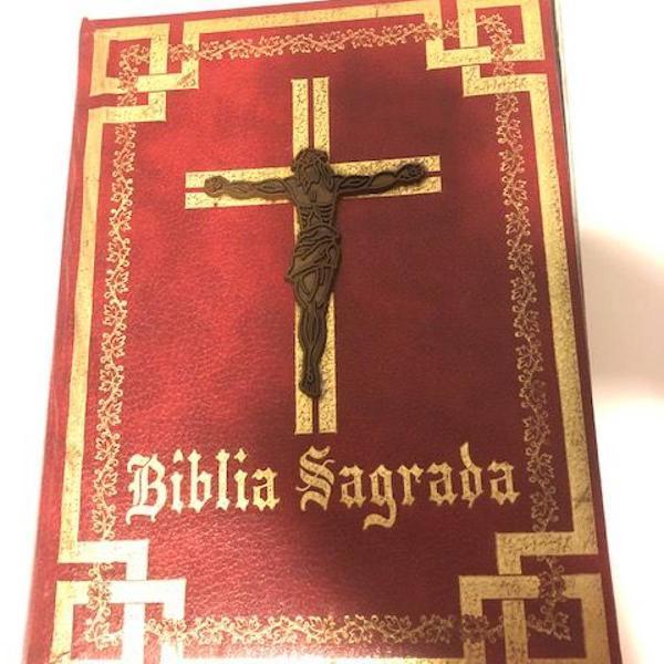 Bíblia sagrada novo brasil editora. antiga. grande.