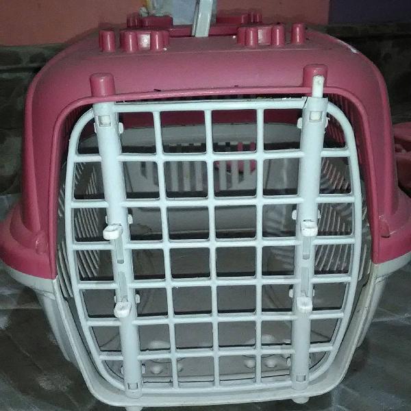 Caixa de transporte para gato/cachorro porte pequeno
