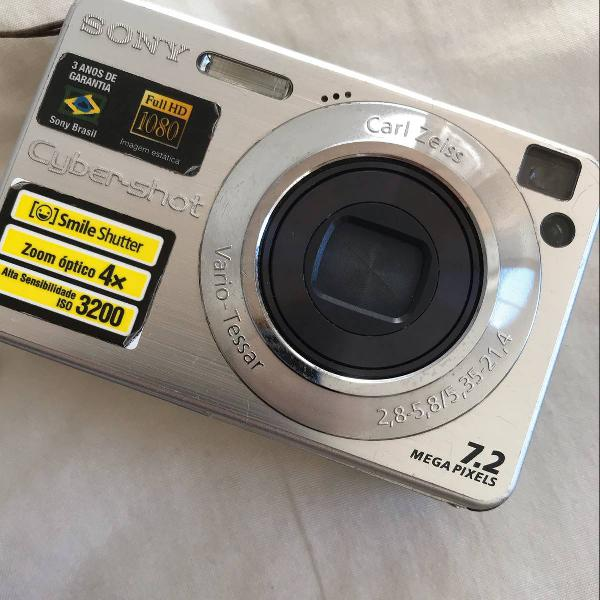 Câmera digital sony cyber-shot 7.2 megapixels
