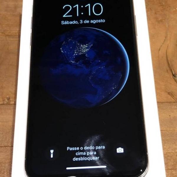 "Iphone x prata 64gb tela 5.8"" ios 11 4g wi-fi câmera 12mp -"