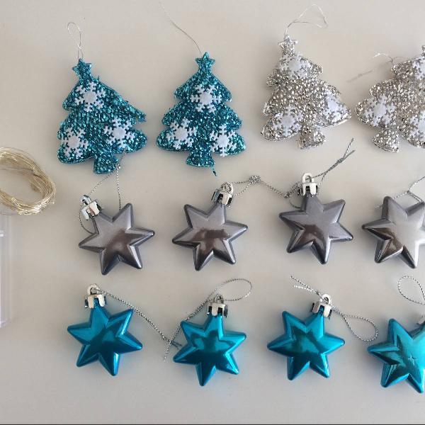 Kit natal azul e prata