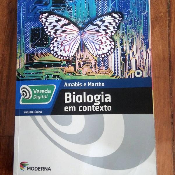Livro de biologia editora moderna de amabis e marho usado em