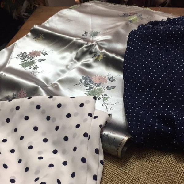 Lote de tecidos três peças