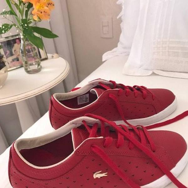 Tenis lacoste red 36