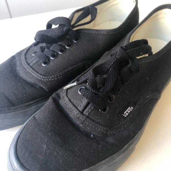Tênis vans preto
