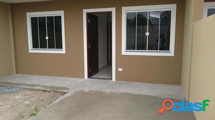 Somente r$ 105 mil reais casas novas 2 quartos em sta. terezinha.