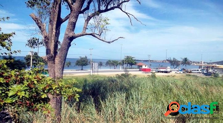 Terreno a venda 1212m² em iguaba grande de frente para lagoa