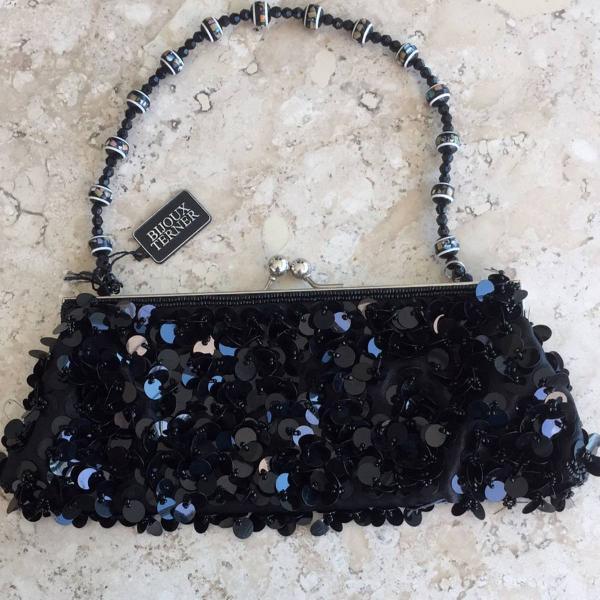 Bolsa festa bijoux terner preto.