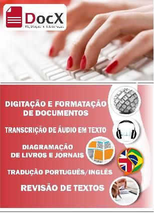Digitação e transcrição de áudio
