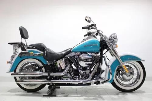 Harley davidson softail deluxe 2017 azul