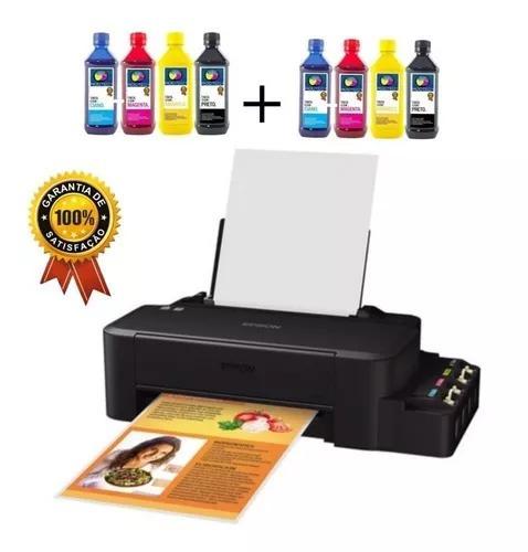 Impressora epson l120 +8un tinta sublimatica dupont +100fls