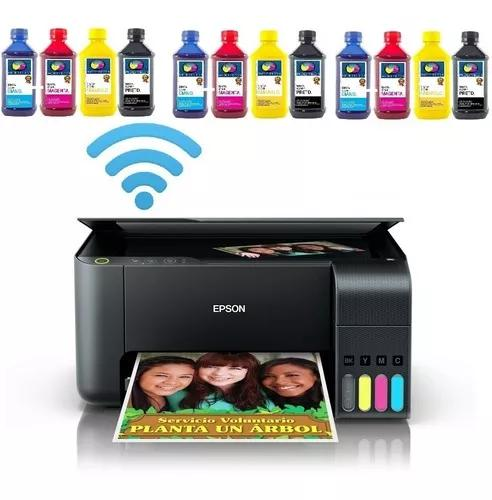 Impressora epson l3150 +12 tinta sublimatica dupont +100fls