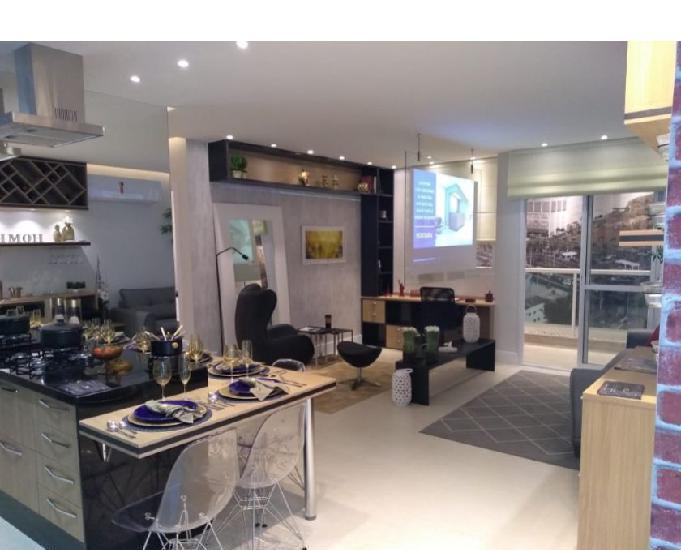 Riviera residences, 2 qts, suíte, varandão, 59 m², lindo