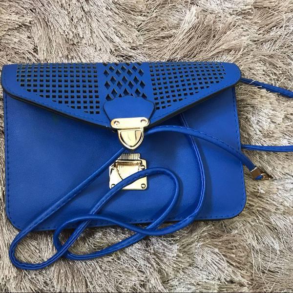 Bolsa azul fofa