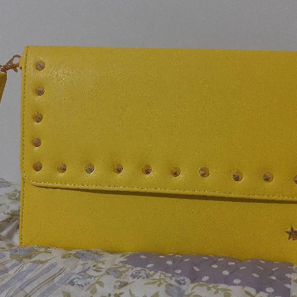 Bolsa carteira amarela