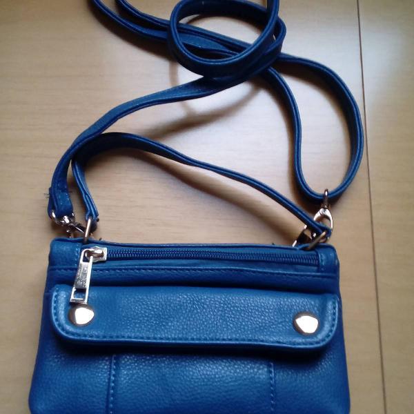 Bolsa carteira transversal azul