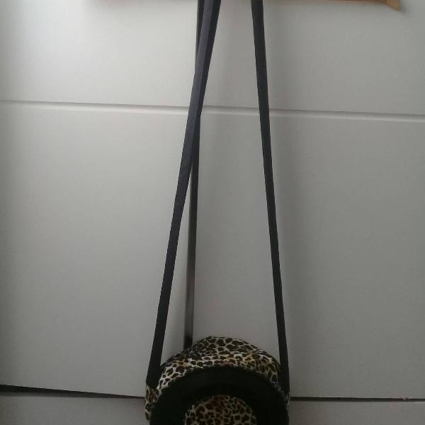 Bolsa oncinha de disco artesanal