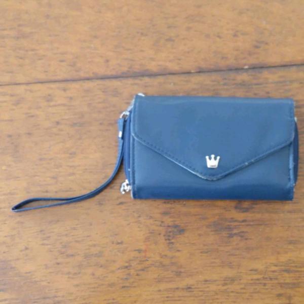 Carteira crown azul marinho (bolsa)