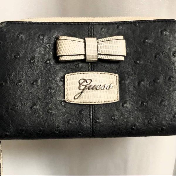 Carteira original da guess, cor preta e bege