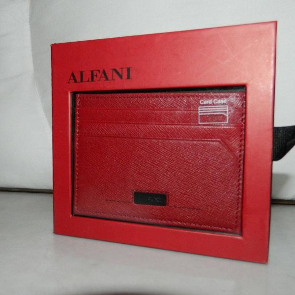 Carteira porta cartões couro natural nova na caixa