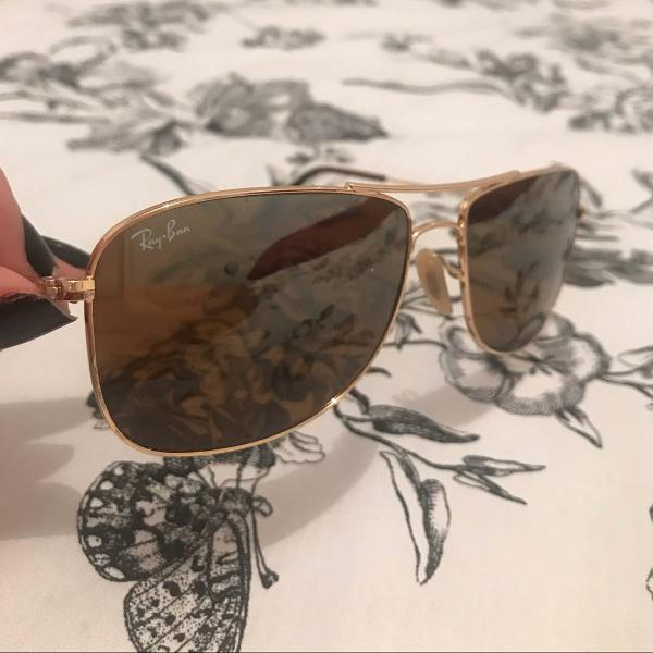 Culos de sol ray ban marrom espelhado