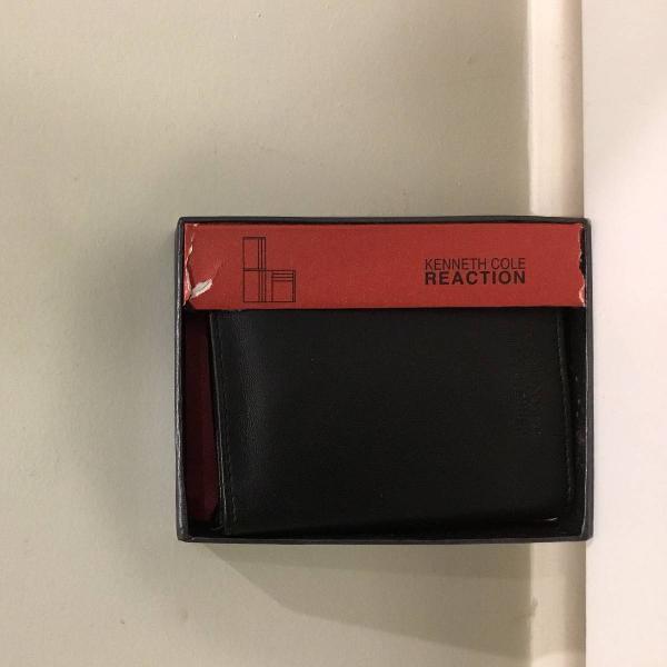 Kenneth cole genuine leather carteira nova