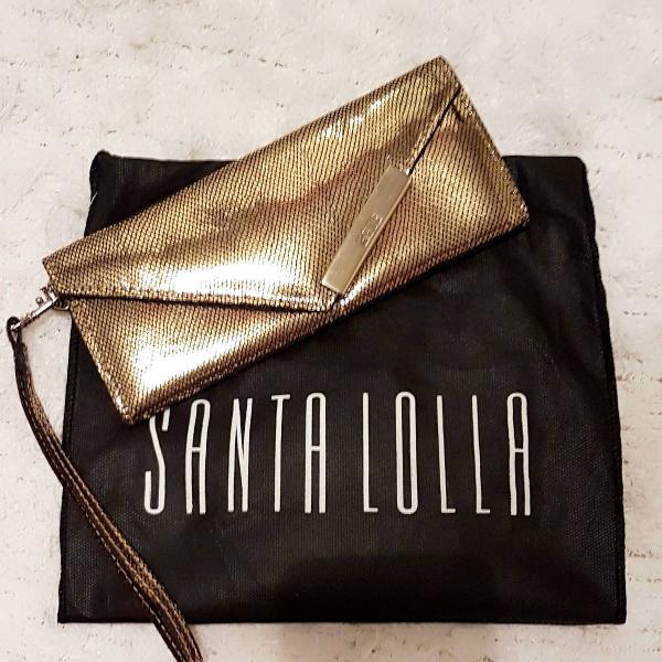 Nova - santa lolla - clutch carteira dourada - queridinha do
