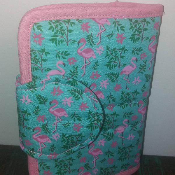 Porta passaporte flamingo