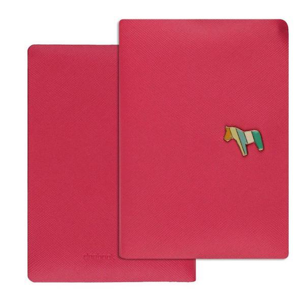 Porta passaporte rosa
