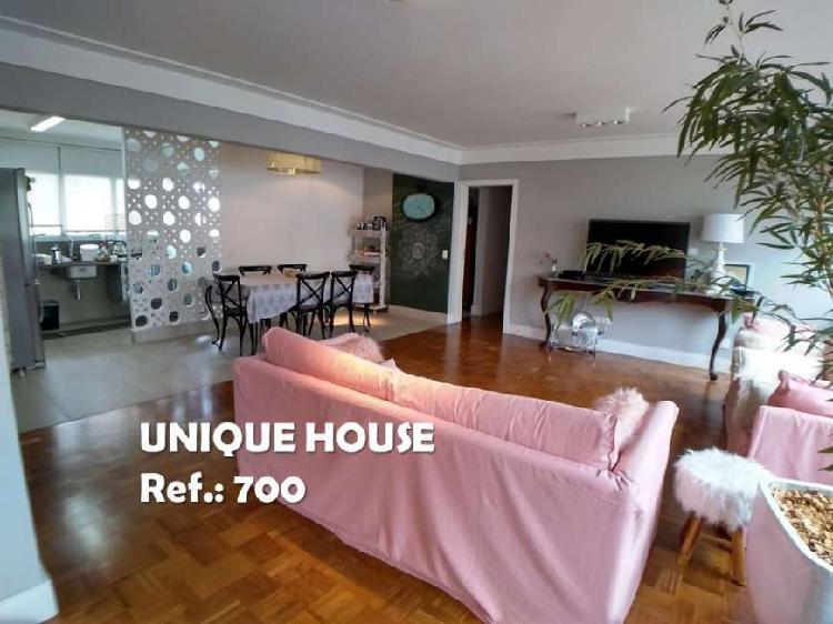 Apartamento com 3 quartos para alugar, 135 m² por r$