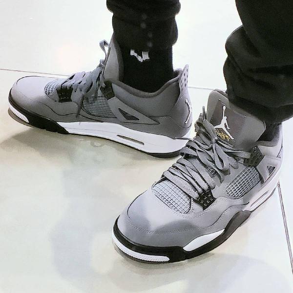 Nike air jordan 4 retro cool grey n.43 leia antes