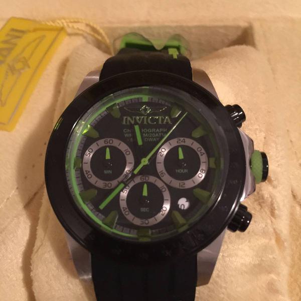 Relogio invicta preto e verde - lindo!!!