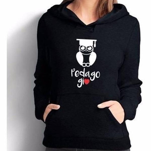 Blusa moletom canguru pedagogia unissex , a melhor !!!