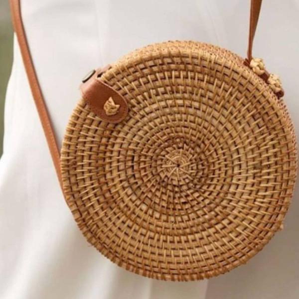 Bolsa de palha redonda verão
