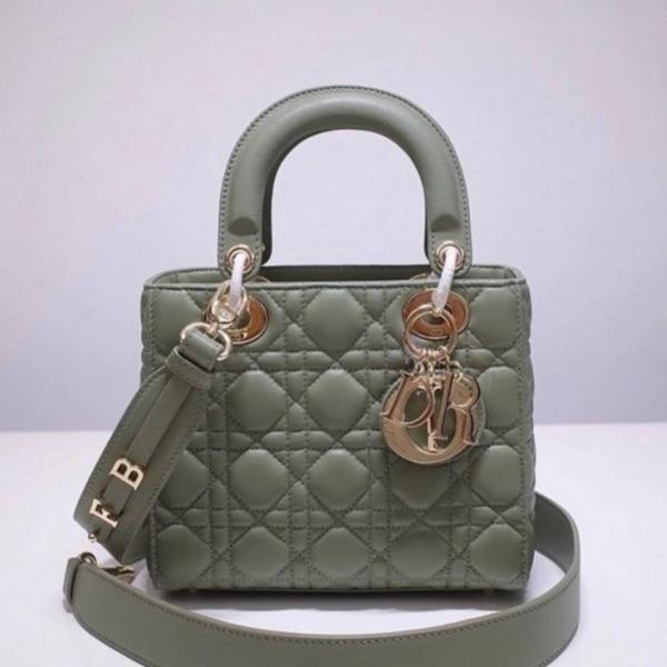 Bolsa dior lady mini verde - pronta entrega importada