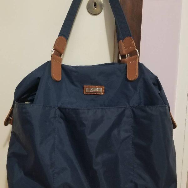 Bolsa grande nylon azul