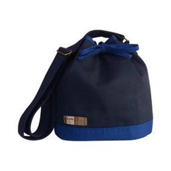 Bolsa saco/ bucket azul marinho